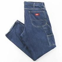 Vintage Dickies  Blue Denim Relaxed Straight Jeans Mens W36 L32 Photo