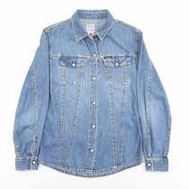 Vintage Diesel Blue Plain Casual Denim Shirt Women's Size Xs Photo