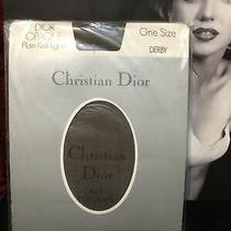Vintage Dior Opaque Plain Knit Tights One Size Derby 3-8 Hip 34-42 Photo