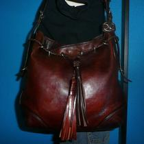 Vintage Dkny Brown Leather Medium Hobo Shoulder Bucket Tote Purse Bag Boho Photo