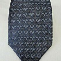 Vintage Dkny Donna Karan Designer Silk Neck Tie Gray 58