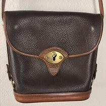 Vintage Dooney and Bourke All Weather Leather Spectator Bag Brown Photo
