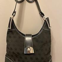 Vintage Dooney and Bourke Black Jaquard Hobo Bag Purse Photo