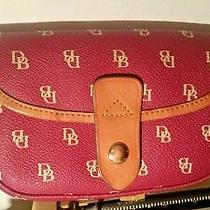 Vintage Dooney and Bourke Leather Hot Pink O Fucsia Wristlet Wallet Coin Purse  Photo