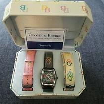 Vintage Dooney and Bourke Watch in Case With 3 Exchangeable Bands Needs Batter Photo