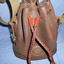 Vintage Dooney & Bourke  Antique Leather Drawstring Bag Photo