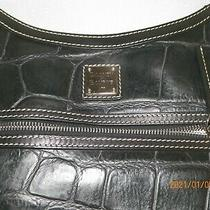 Vintage Dooney & Bourke Black Leather Animal Embossed Shoulder Bag J7007931 Photo