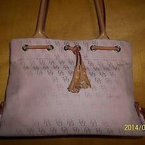 Vintage Dooney & Bourke Pink Signature Tassel Tote/bag Photo