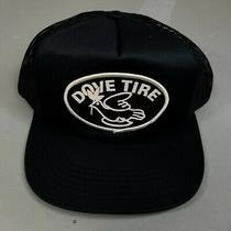 Vintage Dove Tire Auto Car Patch Trucker Snapback Hat Cap Black Payne Promo Photo
