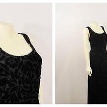 Vintage Dress 90s Express Grunge Burnout Velvet Black Maxi Deadstock Nwt S - M Photo