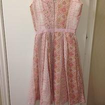 Vintage Dress Abs by Allen Schwartz Size 2 Pink Floral Photo