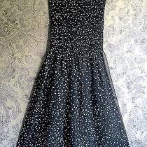 Vintage Dress Elements by Sarika Polka Dot Sheer Strapless Puckered Bodice  Photo