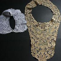 Vintage Dress Lace Collars for Women - Gold/creme & White (Avon) Beautiful Photo