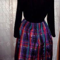 Vintage Dress Party Full Skirt Velvet Top by Talbot's 8 Photo
