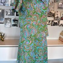 Vintage Dress Set the Denver 2 Piece Set Paisley Spring Aqua Green Original Tags Photo