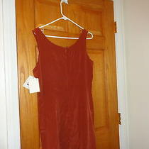 Vintage Dress Size 10  Orange J.l. Hudson Detroit 100%Silk Nwt Sleeveless  Photo
