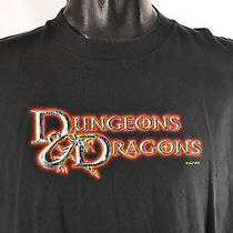 Vintage Dungeons & Dragons Fantasy  Game Mens T-Shirt - Size Xl Photo