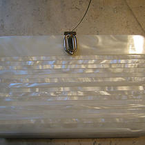 Vintage Early 60's Mother of Pearl Lucite Evening Clutch Stunning Photo