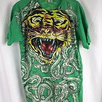 Vintage Ed Hardy Hollywood Christian Audigier Tiger Tattoo Shirt Xl Made in Usa Photo