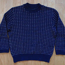 Vintage Eddie Bauer Birds Eye Sweater Wool Size M Norwegian Photo