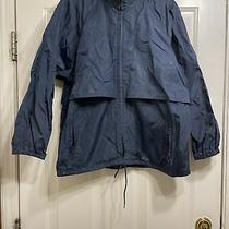 Vintage Eddie Bauer Full Zip Hooded Windbreaker Jacket Men's Medium Blue Photo