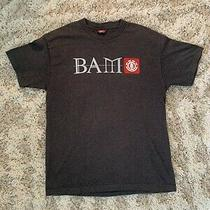 Vintage Element Bam Skateboarding T-Shirt Large Gray Lg Short Sleeve Photo