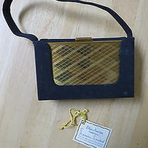 Vintage Elgin American Carryall Vanity Handbag - Makeup Compact Photo