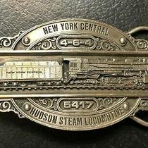 Vintage Embossed New York Central Hudson Team Locomotive 5417 Belt Buckle Photo