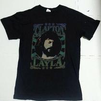 Vintage Eric Clapton Layla T Shirt Rock Rare Great Guitar Fender Band Photo