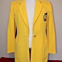 Vintage Escada Angora Wool Blazer Jacket W/ Gold Accents Size 34 Derby Wear Photo