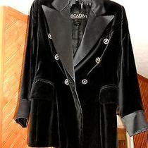 Vintage Escada Black Velvet Jacket Small Size Photo