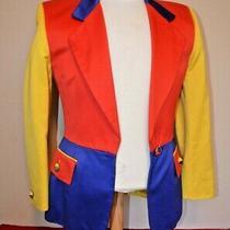 Vintage Escada Cotton Blazer Jacket W/ Gold Accents Size 34 Derby Wear Photo
