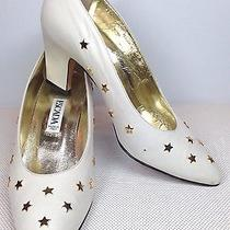 Vintage Escada Heels Gold Heart Detail Rare Photo