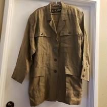 Vintage Escada Olive/ Khaki Safari Style Jacket Size 38/6 Photo