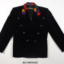 Vintage Escada Stained Glass Collar Women's Blazer Suit Jacket Designer 42 19363 Photo