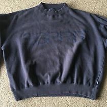 Vintage Espirit Basix Sweatshirt Navy Blue M 1980s Cropped Baggy Photo