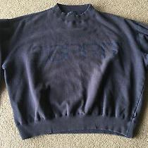 Vintage Espirit Basix Sweatshirt Navy Blue M 1980s Cropped Baggy Photo