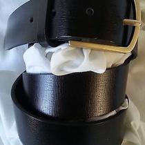 Vintage Estate Belt Dkny Black Leather Belt Size 34 Photo
