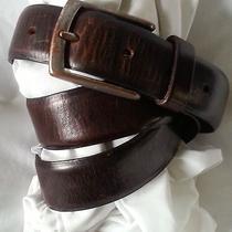 Vintage Estate Belt Eddie Bauer Brown Leather Belt Size 34 Photo