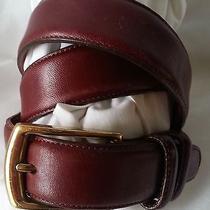 Vintage Estate Belt Lands End Brown Leather Belt Size 30 Photo