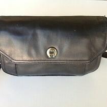 Vintage Etienne Aigner Black Leather Shoulder Bag/purse 1980's Euc Photo