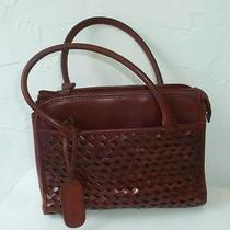 Vintage Etienne Aigner Rich Mahogany Genuine Leather Satchel Bag Photo