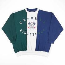 Vintage Exp Express Atheltique Blue 90s Crew Neck Sweatshirt Mens L Photo