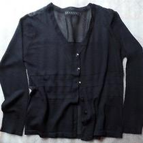 Vintage Express 6 Button Sheer Black Sweater Photo