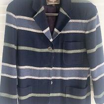 Vintage Express no.4 Jeans Womens Size Small Jacket Coat Stripes Wool Blend Photo