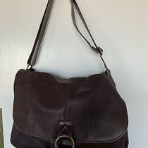Vintage Extra Large Chocolate 100%  Leather  Made in Columbia Messenger Bag Photo