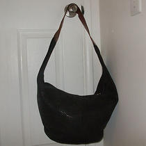 Vintage Extra Large Xl Black Furla Hobo Photo