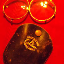 Vintage Eye Glasses With Case Attach to Other Glas - American Calobar Sunglasses Photo