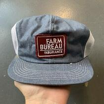 Vintage Farm Bureu Patch Snapback Trucker Hat K Products Usa Chambray Stripes Photo