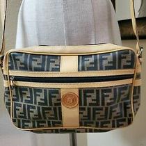 Vintage Fendi Coated Monogram Canvas Crossbody Handbag Photo